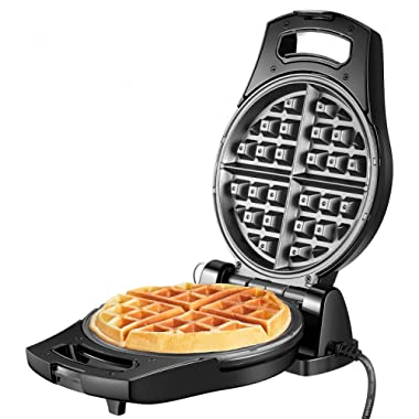 Belgian Waffle Maker 950W Aicook, 180° Waffle Maker Flip, Stainless Steel Waffle Iron with Temperature Control & Non-stick Plates, Double-sided Heating For Fluffy Golden Waffles, Compact&Fast