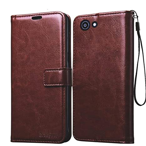 size 40 d7330 32031 Bracevor Flip Cover Case for Oppo Realme 1 | Foldable Stand | Wallet Card  Slots - Executive Brown