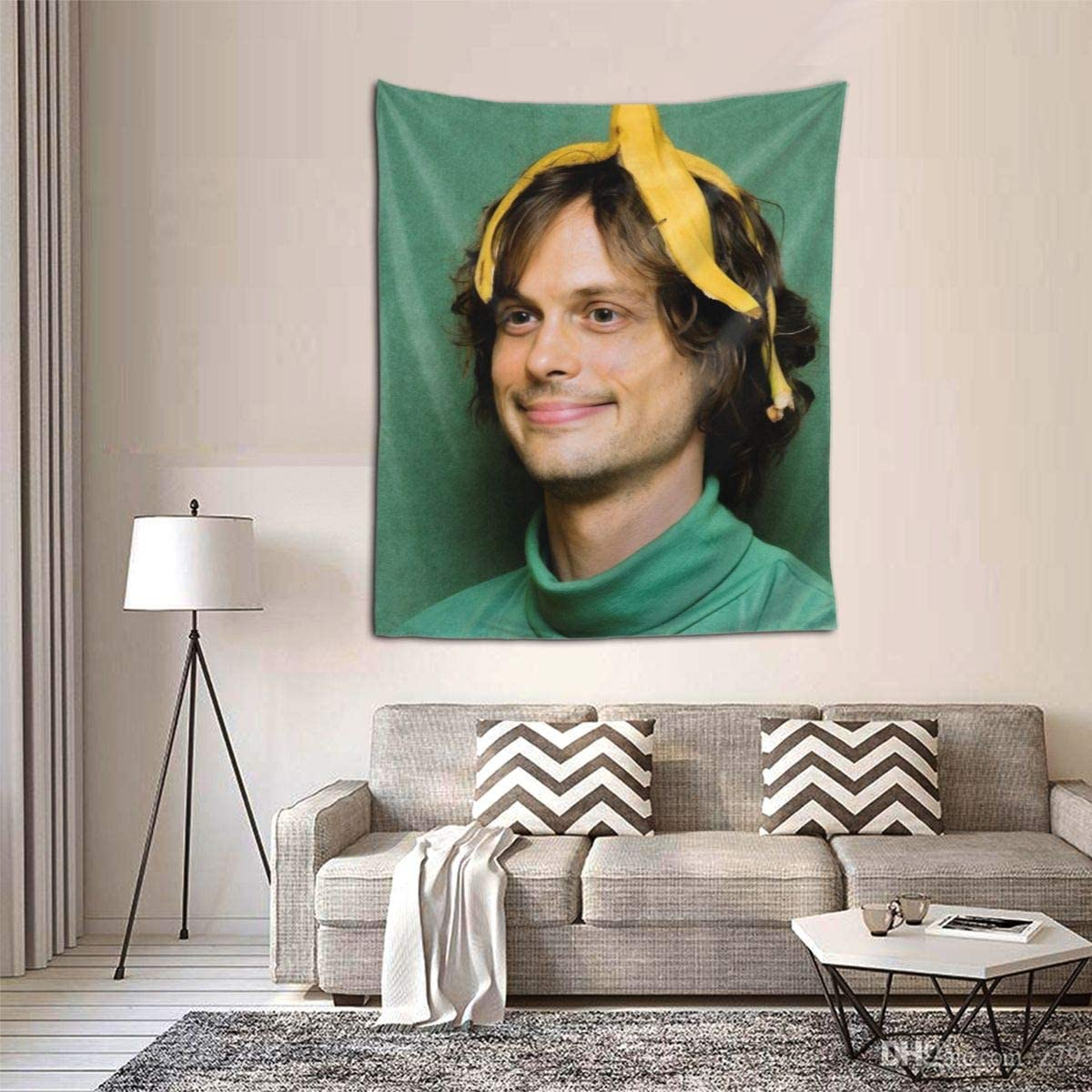 SWEET AIR Cr-iminal M-indS Dr.Spencer Reid Tapestry Wall Hanging Tapestries 3D Printing Blanket Wall Art for Living Room Bedroom Home Decor 6051 Inch