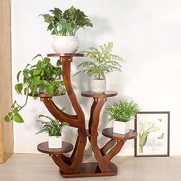 Massivholz Blumenständer Indoor Balkon Wohnzimmer Pflanze ...
