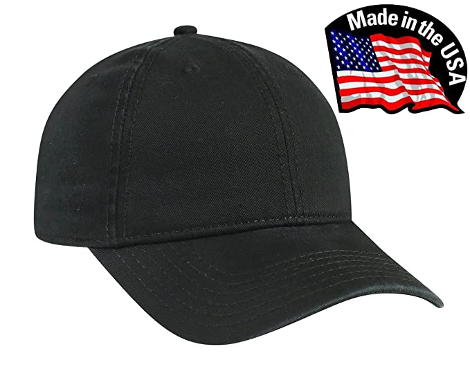 aca6a2ea60b45 The Hat Pros Made in USA Cotton Twill Low Profile Cap at Amazon ...