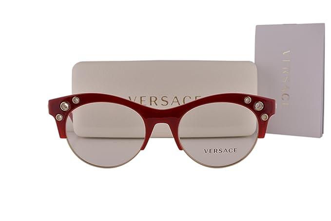 28dce57234 Versace VE3232 Eyeglasses 52-20-140 Bordeaux Gold 5197 VE 3232 ...
