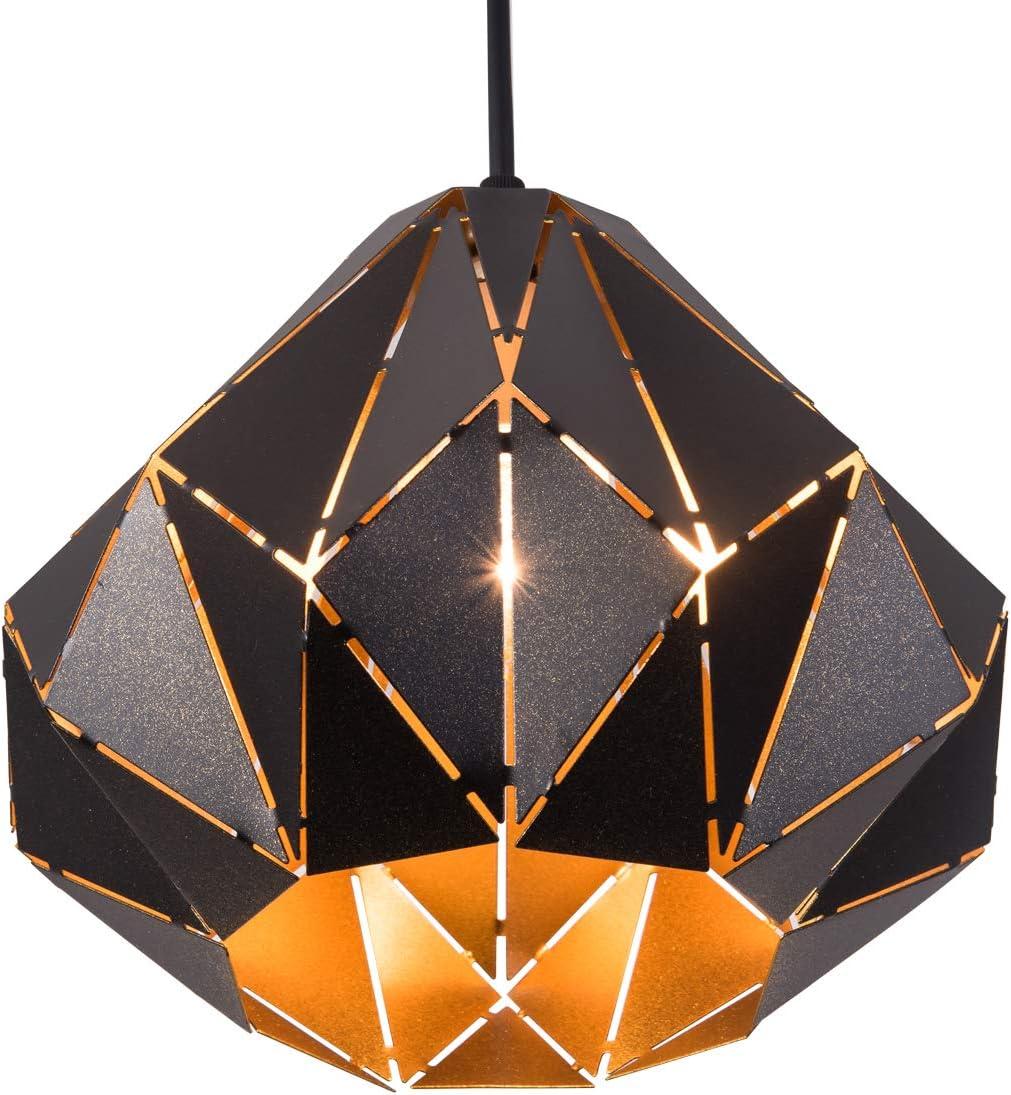 SAISHUO Geometric Pendant Light for Kitchen Island, Polyhedron Adjustable Chain 1 Light Chandelier for Kitchen Island, Bar, Hallway, Living Room, Dining Room