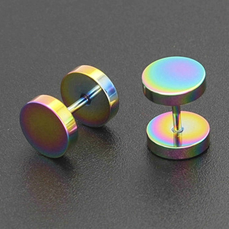 Beydodo Stainless Steel Earring Posts Piercing Earrings Cartilage 1 Pair Stud Earrings 7MM