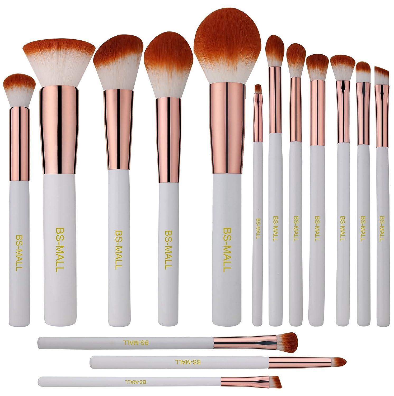 ccdc0173a371 BS-MALL Premium Synthetic Kabuki Makeup Brush Set Cosmetics Foundation  Blending Blush Eyeliner...