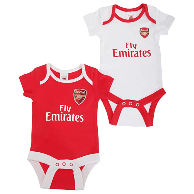Arsenal FC Official Football Crest Baby Bodysuit