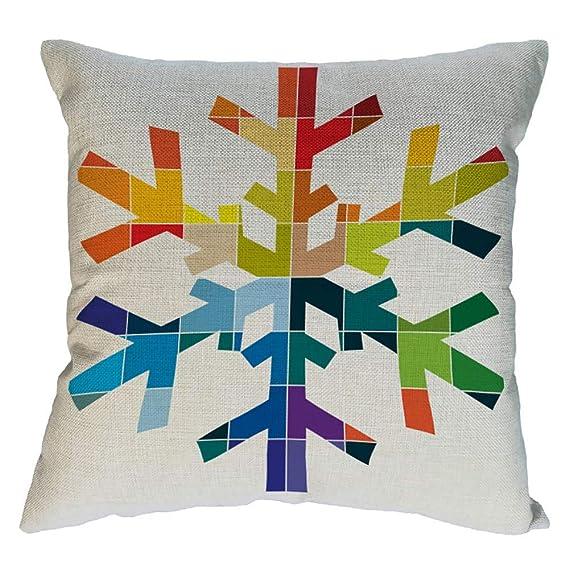 Longra ☂☂❤️❤️ Almohada Decorativa con Relleno,Patrones geométricos de Pintura Animal Fundas de Almohadas Decorativas