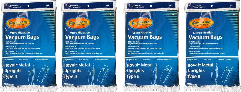 12 Royal Metal Uprights Type B Microfiltration Anti-Allergen Vacuum Cleaner Bags