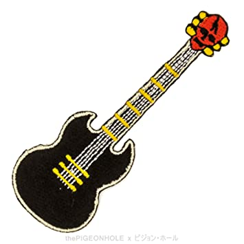 [micrófono Drop] rojo agrietada cabezal de calavera guitarra eléctrica VIP (negro, rojo