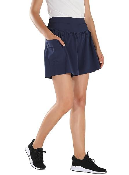 HAINES Pantalones Cortos Casual Mujer Pantalón Corto Cintura Alta Shorts  Verano 2018 Pantalones Cortos Anchos  Amazon.es  Ropa y accesorios aeb85cad332a