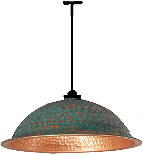 Amazon copper turquoise verdigris goldish copper ceiling dome copper turquoise verdigris goldish copper ceiling dome bowl pendant lighting lamp shade diy by egypt gift greentooth Images