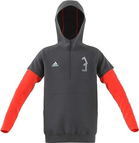 adidas Predator Veste à Capuche zippée pour garçon M Grey