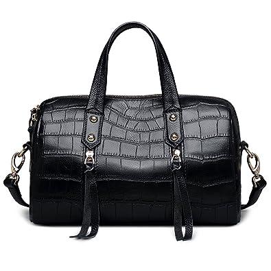 1c4fe4ba2c6e ZOOLER Genuine Leather Handbags for Women Crossbody Bags Boston Bag Solid  Purses