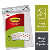 Command Poster Strips Value Pack, 64 Strips, PH024-64NA,White