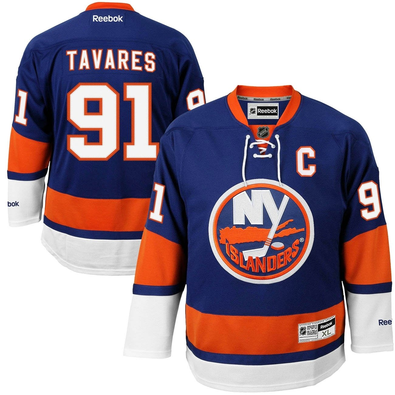 more photos 9ad32 3b199 Reebok New York Islanders John Tavares #91 NHL Jersey Home ...