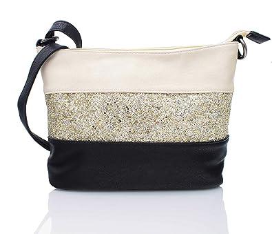b0d9dc6b6e65 Gallantry Women s Cross-Body Bag gold Beige black  Amazon.co.uk ...