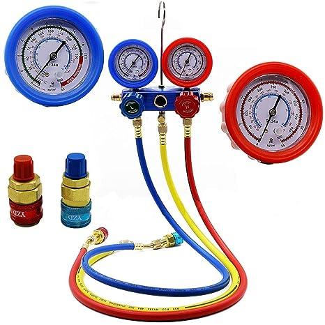 Nueva AC Kit de refrigeración medidor de presión aire acondicionado A/C colector de aire