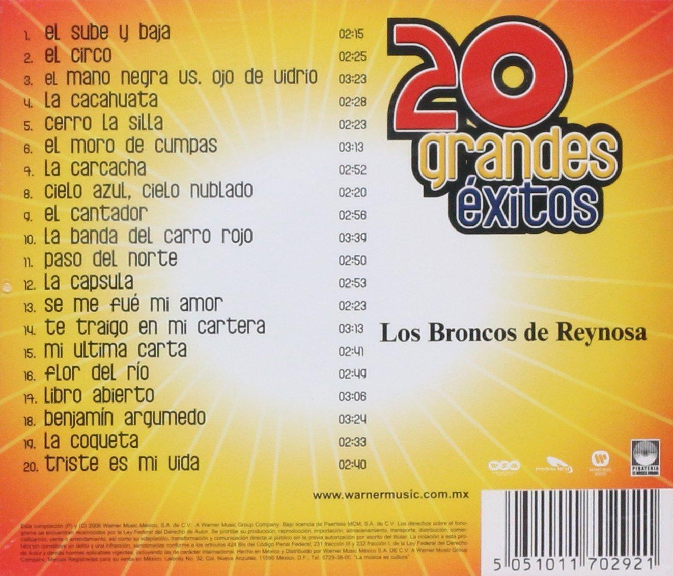 Los Broncos de Reynosa - 20 Grandes Exitos: Los Broncos De Reynosa - Amazon.com Music
