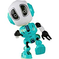 Sopu Talking Robot Toys Repeats What You Say Kids Robot Toy Metal Mini Body Robot Repeats Your Voice, Colorful Flashing Lights Cool Sounds Robot Interactive Toy Boys Girls Gift (Blue)