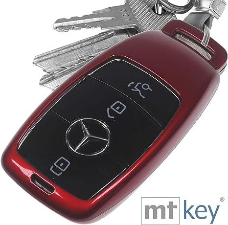 Auto Schlüssel Hülle Hartschale Cover Rot Für Mercedes Elektronik