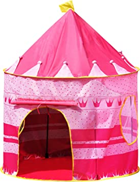 CHILDRENS KIDS POP UP CASTLE PLAYHOUSE GIRLS PRINCESS PINK PLAY TENT Fusion (TM)