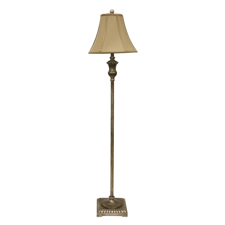 Décor Therapy PL3790 Floor Lamp, Antique Gesso