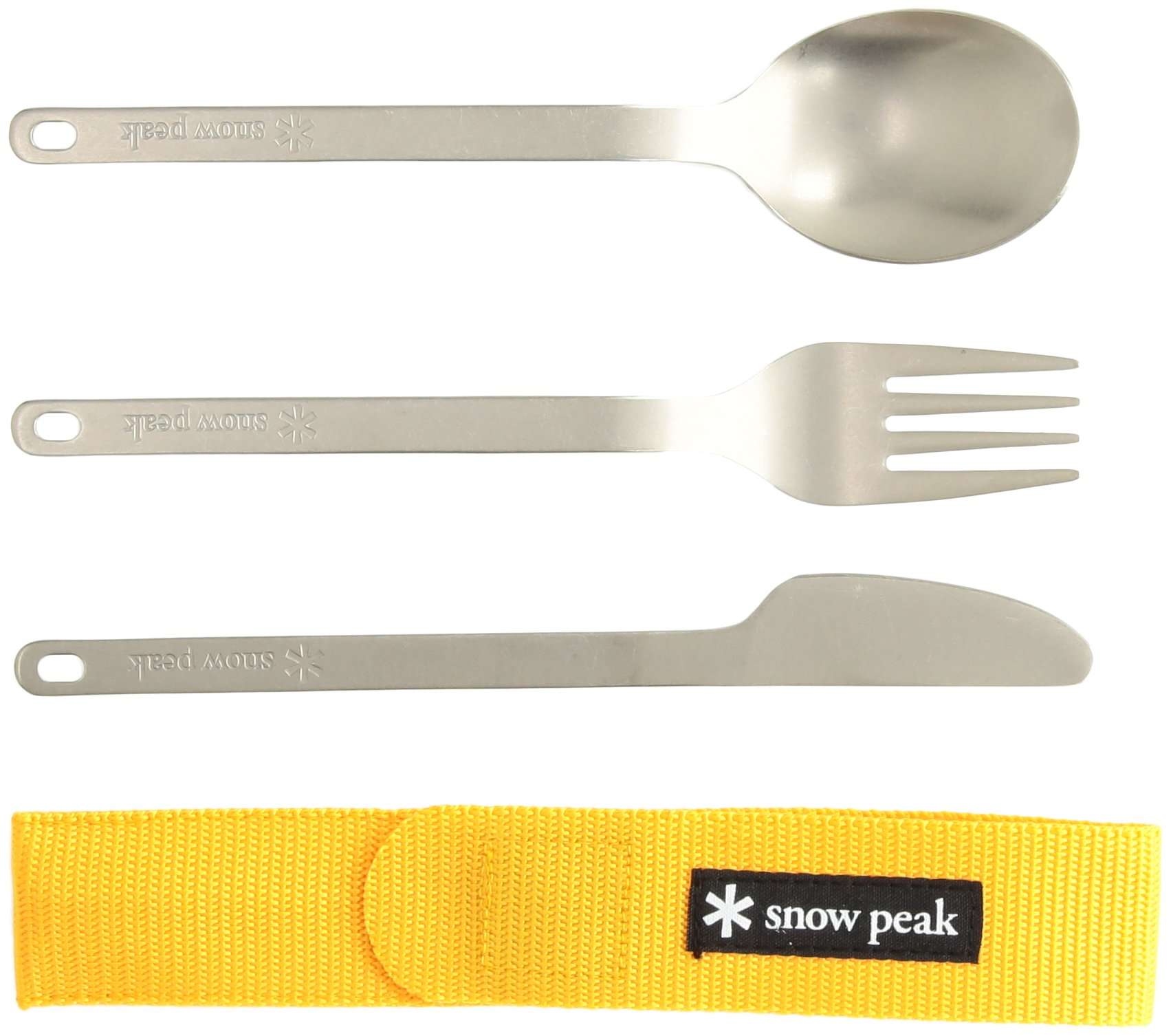Snow Peak Titanium Silverware Cutlery Set (3-Piece) by Snow Peak