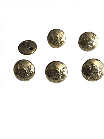 Civil War U S  Brass Eagle Uniform Buttons Size: 16mm (PRICE FOR 8