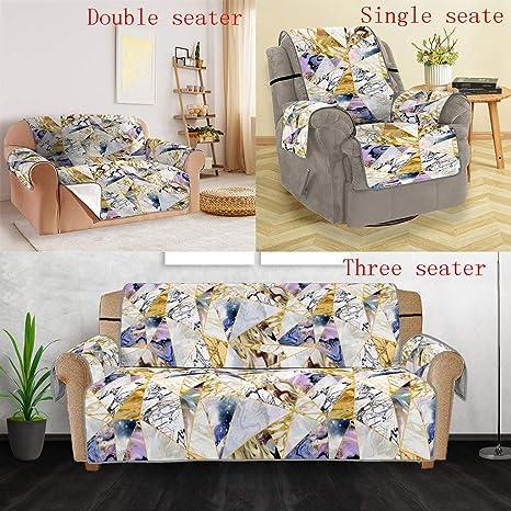 Magnificent Amazon Com Denzar Marble Pattern Sofa Cover Anti Slip Machost Co Dining Chair Design Ideas Machostcouk
