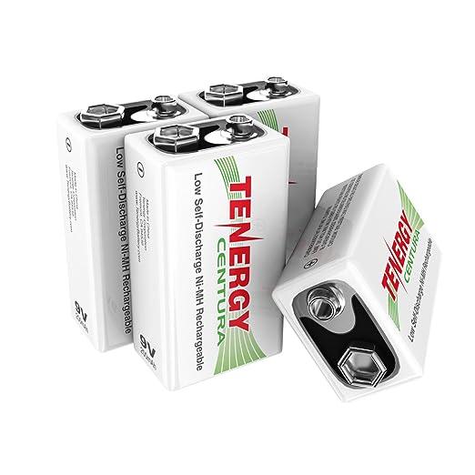 Amazon.com: Tenergy Centura 9V 200mAh batería recargable ...