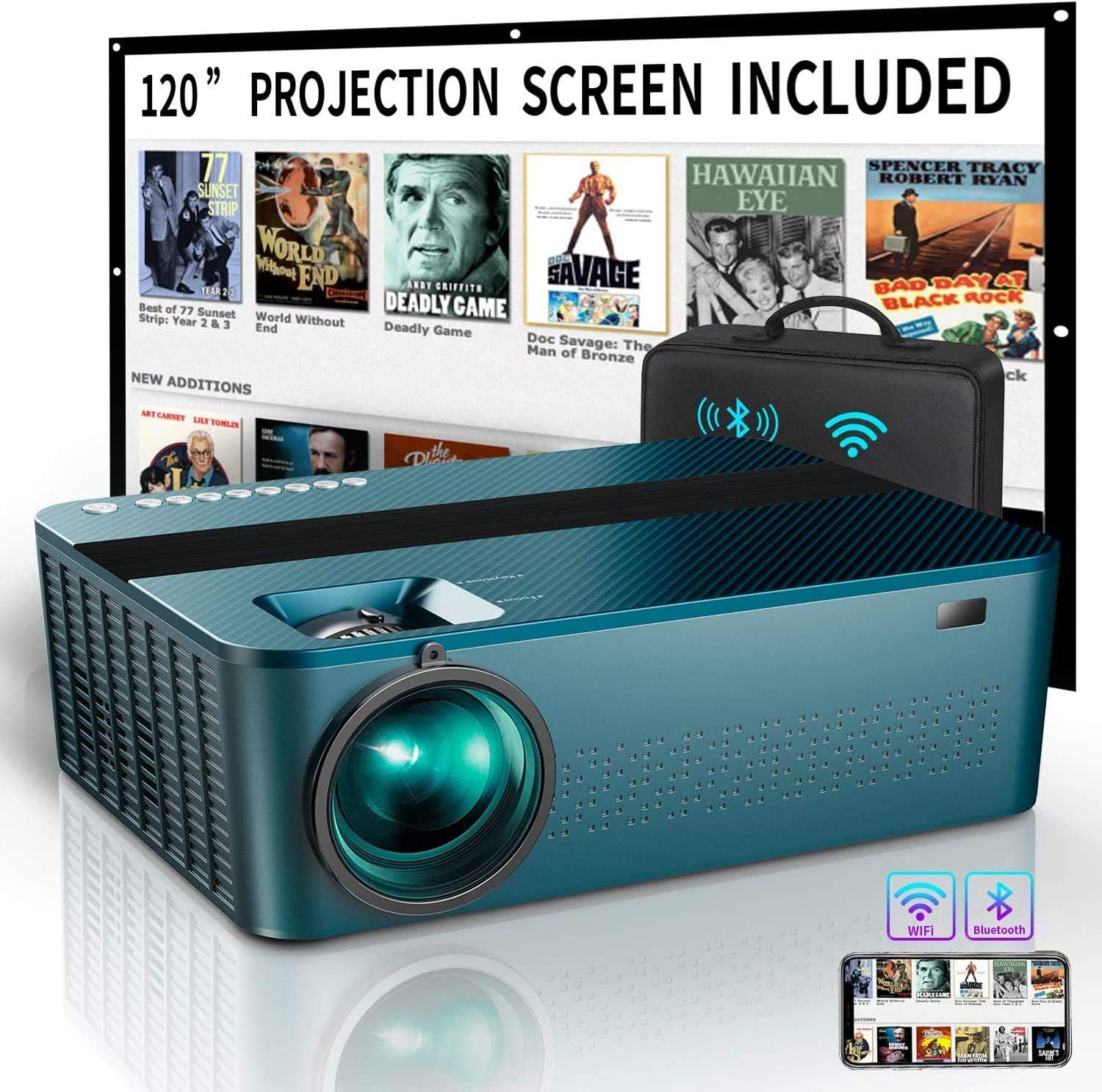 5G WiFi Bluetooth Projector 4k with 120