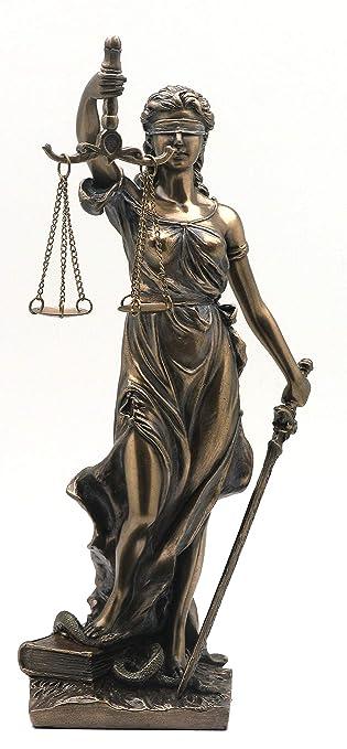 PALAZZO INT Justitia Figur Göttin Gerechtigkeit Jugendstil Skulptur  WU75802A4 Veronese