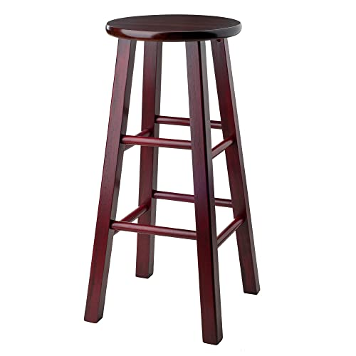 Winsome Wood Ivy model name Stool Rustic Maroon Walnut