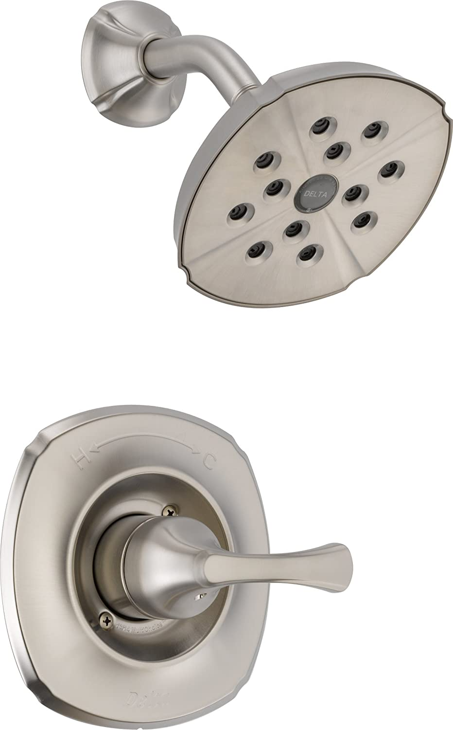 Delta T14292-SS Addison Monitor 14 Series Shower Trim, Stainless ...