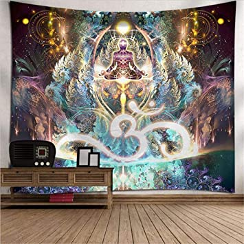 PYHQ Buda Yoga Tapiz De Pared Indio Art Hippie Boho Decoración de la habitación,Regalo para cumpleaños, Navidad, Fiesta, Rendimiento, Año Nuevo