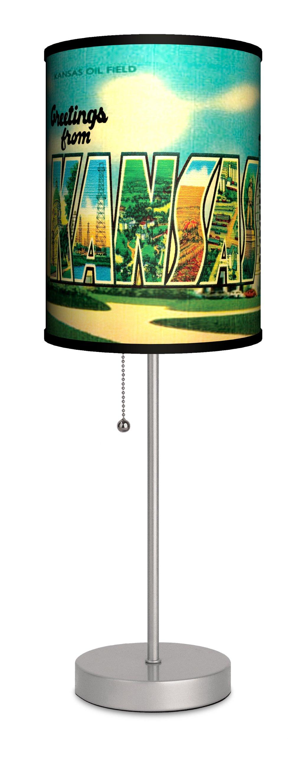 Travel - Kansas Postcard Sport Silver Lamp