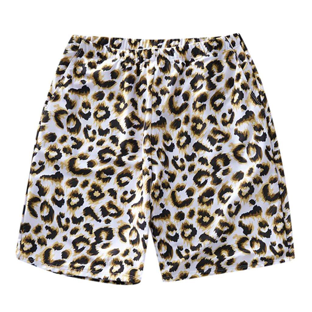Sayolala Family Clothes Mommy Daddy Baby Swimwear Leopard Print Surfing Sports Beach Shorts Trunks Pants Swimsuit Bikini