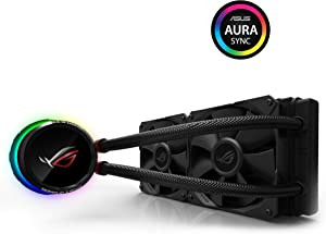ASUS ROG Ryuo 240 CPU Cooler with OLED Display and Aura Sync - Black