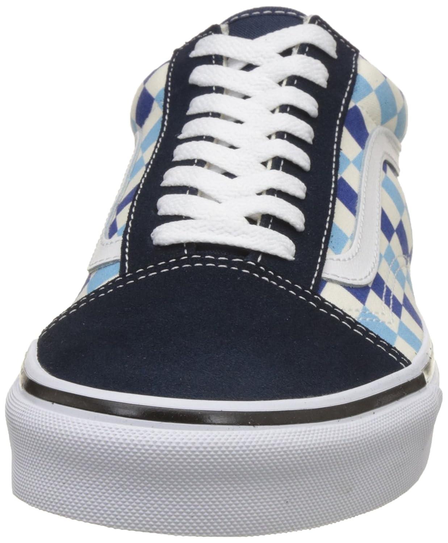 ba79b906b6f16f Vans U Old Skool (QCM) (Checkerboard) Blue Topaz Blue (13 Women 11.5 Men M  US)  Amazon.co.uk  Shoes   Bags
