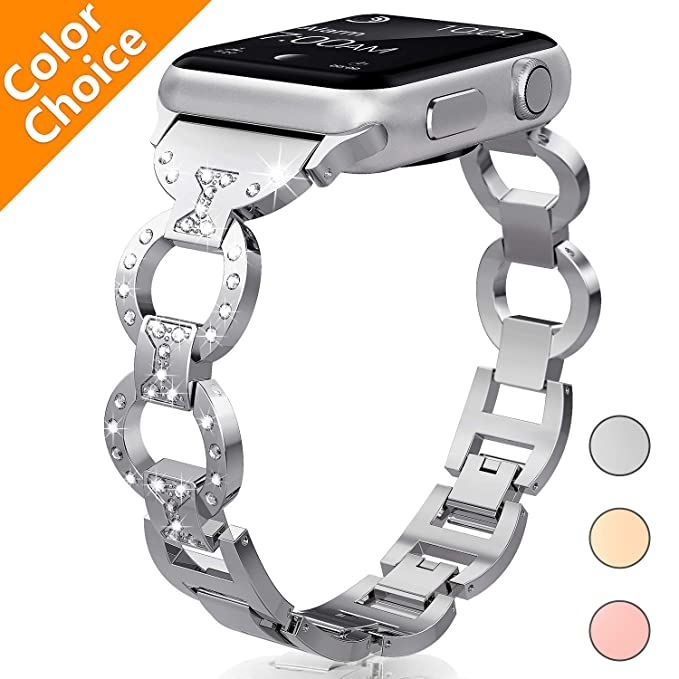 HiGoing Bling Band - Correa de Repuesto para Apple Watch (38 ...