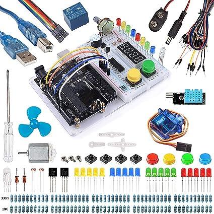 Amazon.com: smraza Starter Kit para Arduino con uno r3 ...