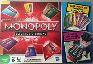Hasbro Monopoly Electronic Banking Board Game, Red Board Games at amazon