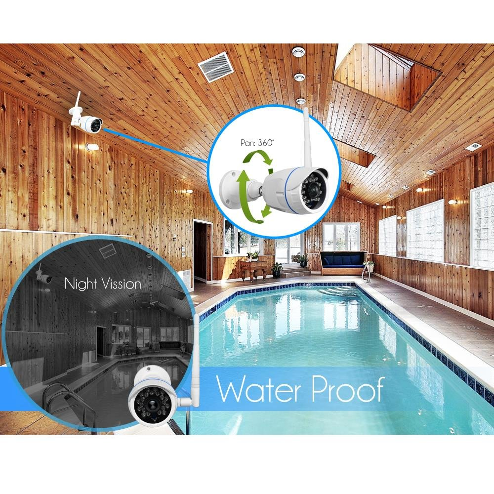 Wireless Outdoor Ip Security Camera Weatherproof Hd Shed 12 Volt Wiring Diagram 720p Home Wifi Surveillance Internet Video W Built In16g Sd Storage Motion Detection