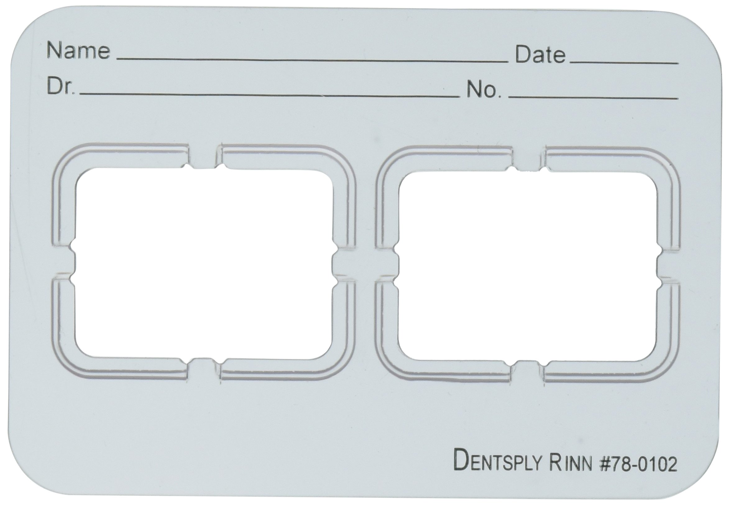 Dentsply 780102 Film Mount Charts 78 Series EZ-Tab Plastics, Frosted, 2 2H (Pack of 100)