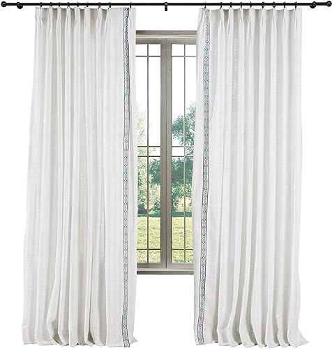 TWOPAGES Heavyweight Linen Pinch Pleated Loft Curtain