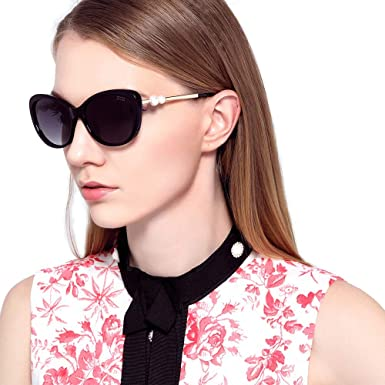 144c28f286 Image Unavailable. Image not available for. Color  Eileen Elisa Vintage  Sunglasses for Women Polarized UV Protection Oversized Sunglasses