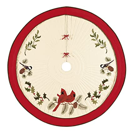 54 quilted christmas tree skirt holiday song birds