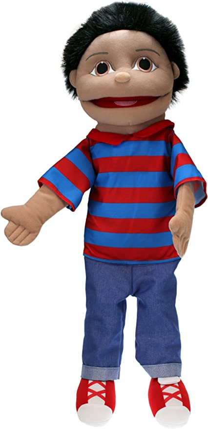Small Girl Full Body Hand Puppet 15 inches Light Skin