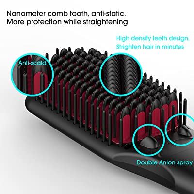 Miropure Enhanced 2-in-1 Ionic Hair Straightening Brush