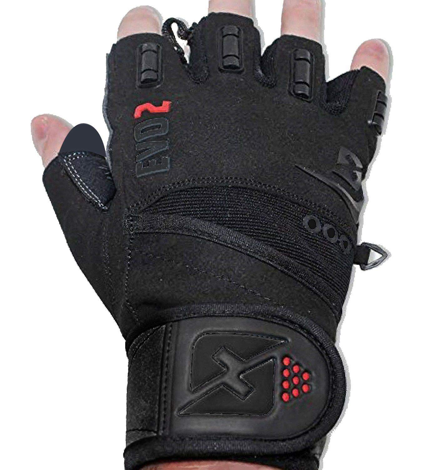 skott 2019 Evo 2 Weightlifting Gloves with Integrated Wrist Wrap Support-Double Stitching for Extra Durability-Get Ripped with The Best Body Building Fitness and Exercise Accessories